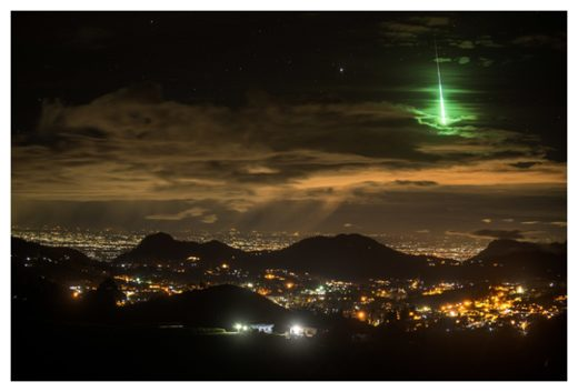 Green Meteor over South India