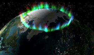 Northern lights from ISS