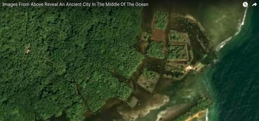 pacific islands geometric shaped island canals lost civilisation