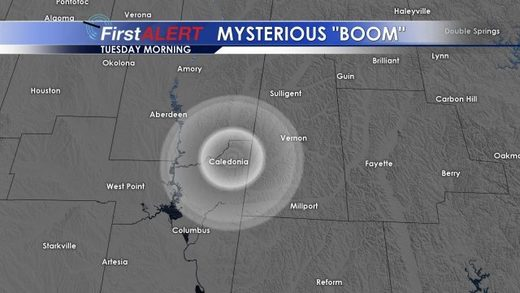 Mystery boom in Mississippi