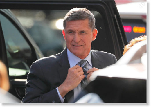Michael Flynn arrives at a U.S. District Court in Washington, D.C., December 1, 2017.