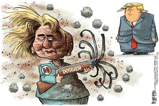 Clinton, Trump, dossier