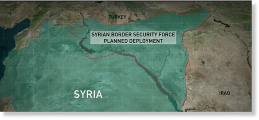 Syrian US border force