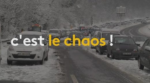 snow cars chaos