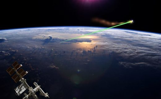 laser Earth space