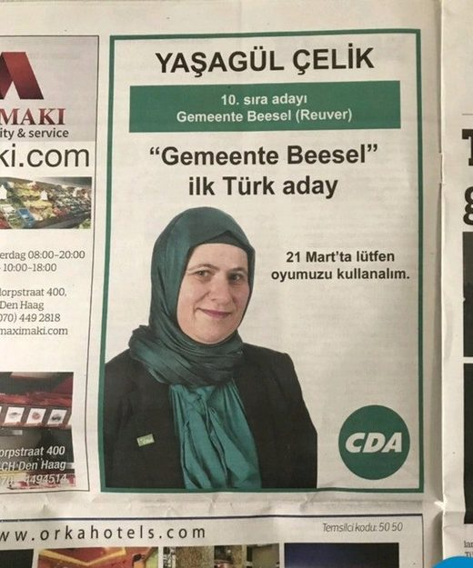 Dutch Council elections in Turkish