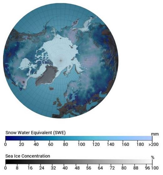 2018 snow cover northern hemisphere