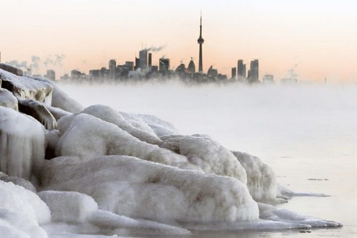 Frozen Lake Ontario