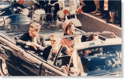 JFK's motorcade in Dallas, Texas