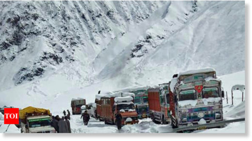 Srinagar-Leh highway closed due to heavy snowfall