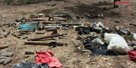 Ammunition discovered by authorities in Homs