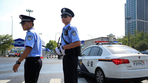 chinese police officers