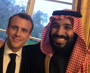Smily Ben Salman and Macron during Saudi official visit