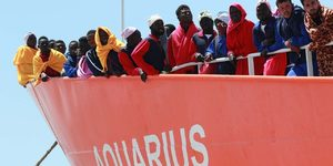 The Aquarius carries 629 migrants to Europe