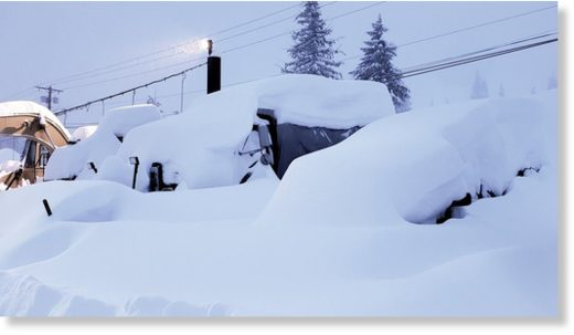 Snoqualmie ski resort after 4-foot snow dump
