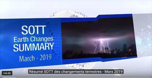Changements terrestres mars 2019