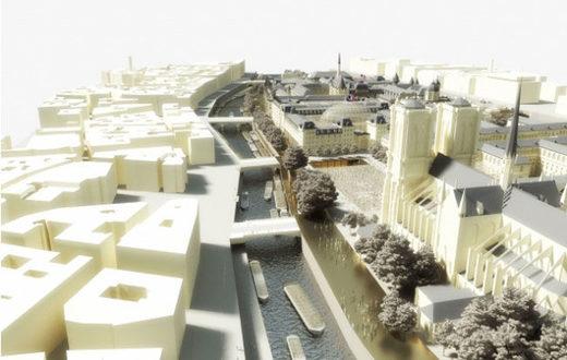 Projet Ile de la Cité Perrault et Belaval