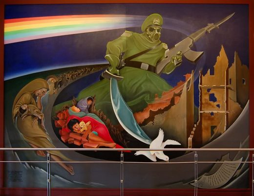 Order of Chaos Denver airport mural painting
