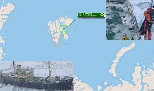 MS MALMO came to a grinding halt on Sep 3 off Longyearbyen, the Svalbard Archipelago.