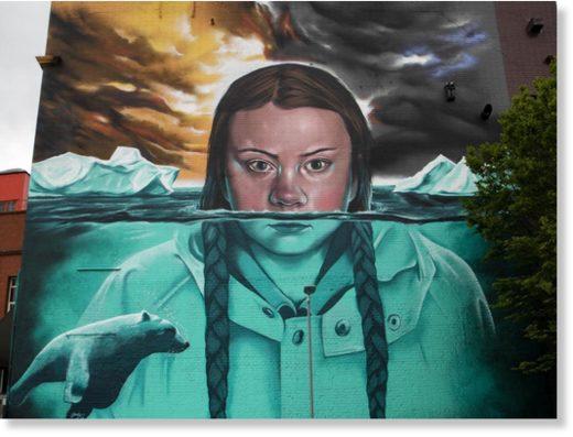 Greta thunberg mural bristol
