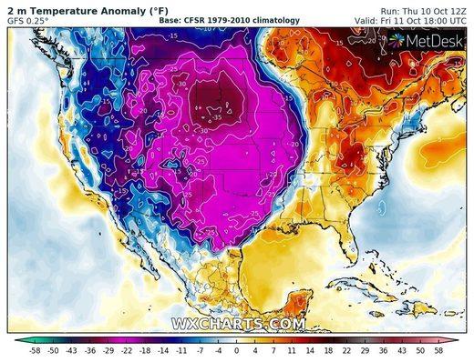 température USA