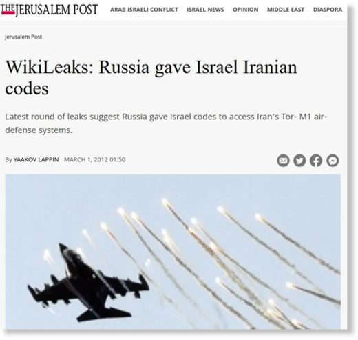 Jerusalem Post TOR-M1 codes Russia Iran