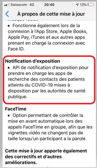 iOS, notification