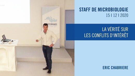 Le Professeur Éric Chabrière - les conflits d'intérêt