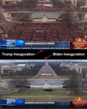 trump biden inaugurations