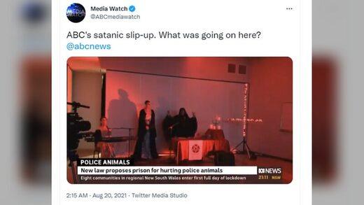 satanic slip up