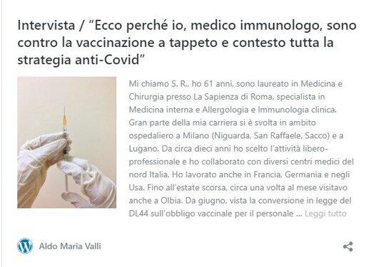 medecin italien pas vacciné