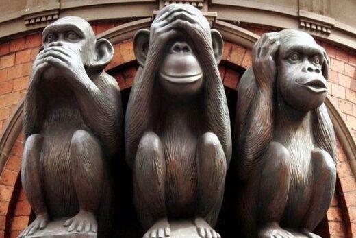 Les trois singes du temple shintoïste Toshogu