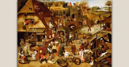 Pieter Brueghel LAncien The Flemish Proverbs MeisterDrucke
