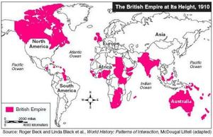 British Empire at Its Height 1910 map