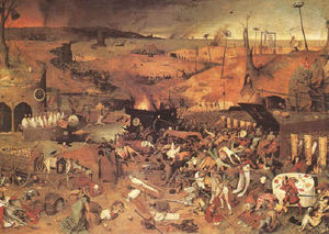 Painting from Bruegel, The Dark Death