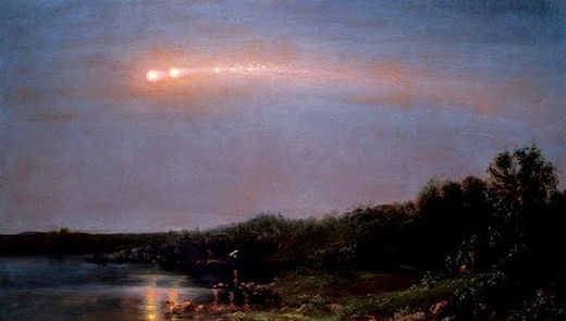 Painting Meteor fragmentation 20.07.1860