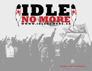 Idle no more graphic