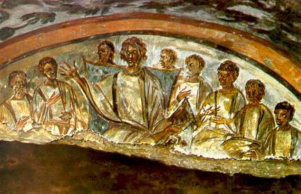 Image result for paintings in roman catacombs