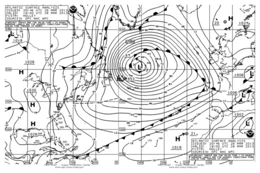 Weather Map Atlantic